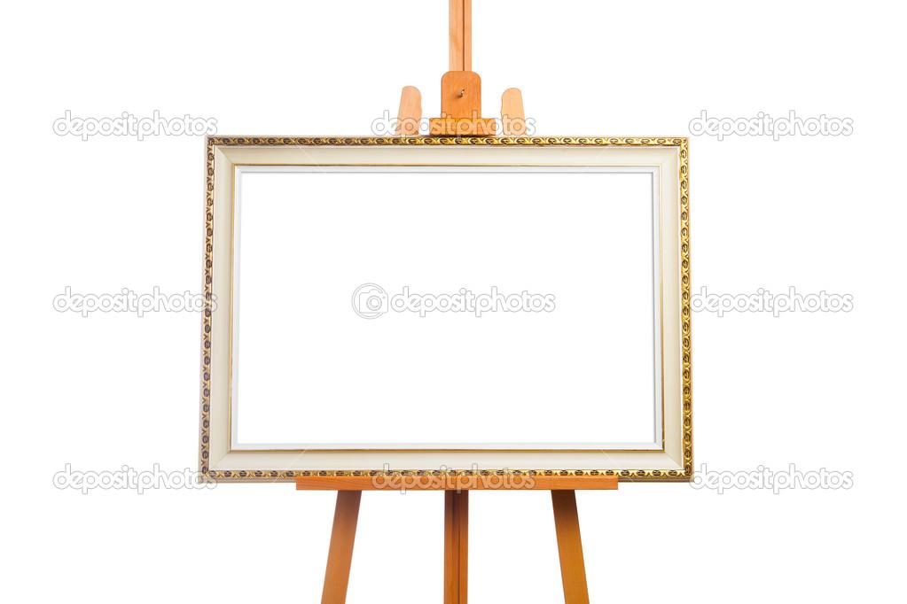 caballete con el marco de la pintura — Fotos de Stock © nikkytok ...