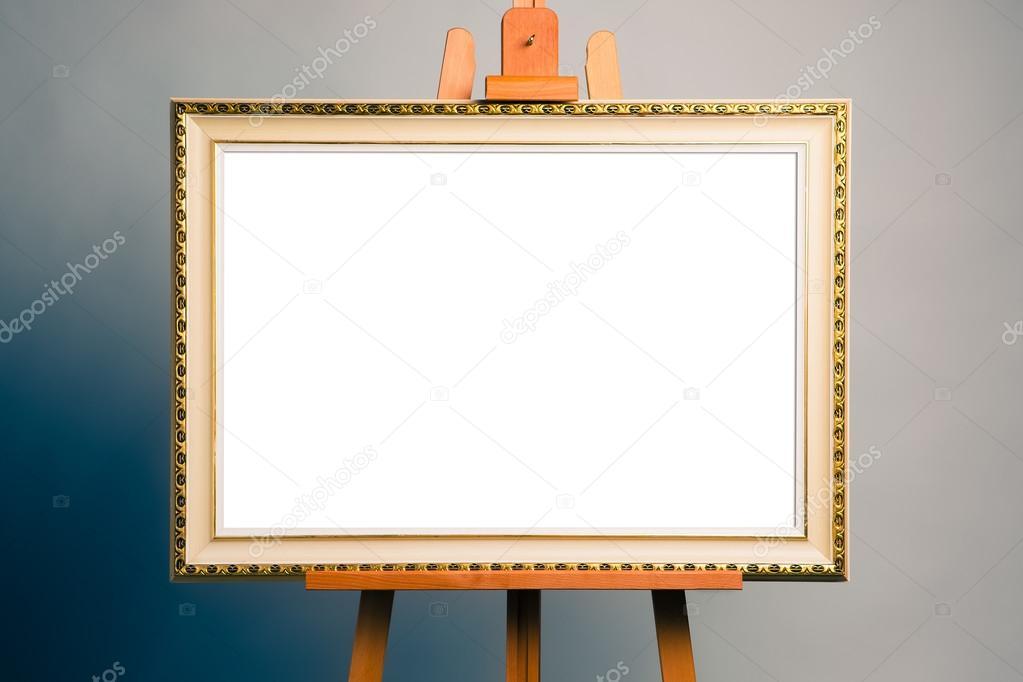 caballete con el marco de la pintura antigua — Foto de stock ...