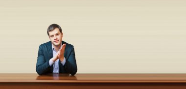business man on a desk