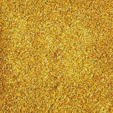 Golden glitter makeup powder texture