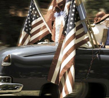 Car an flags