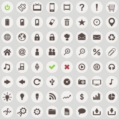 Large set of retro style web icons