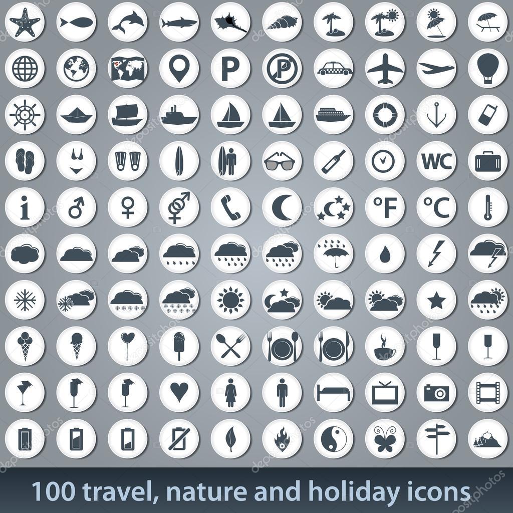 Large set of holiday icons