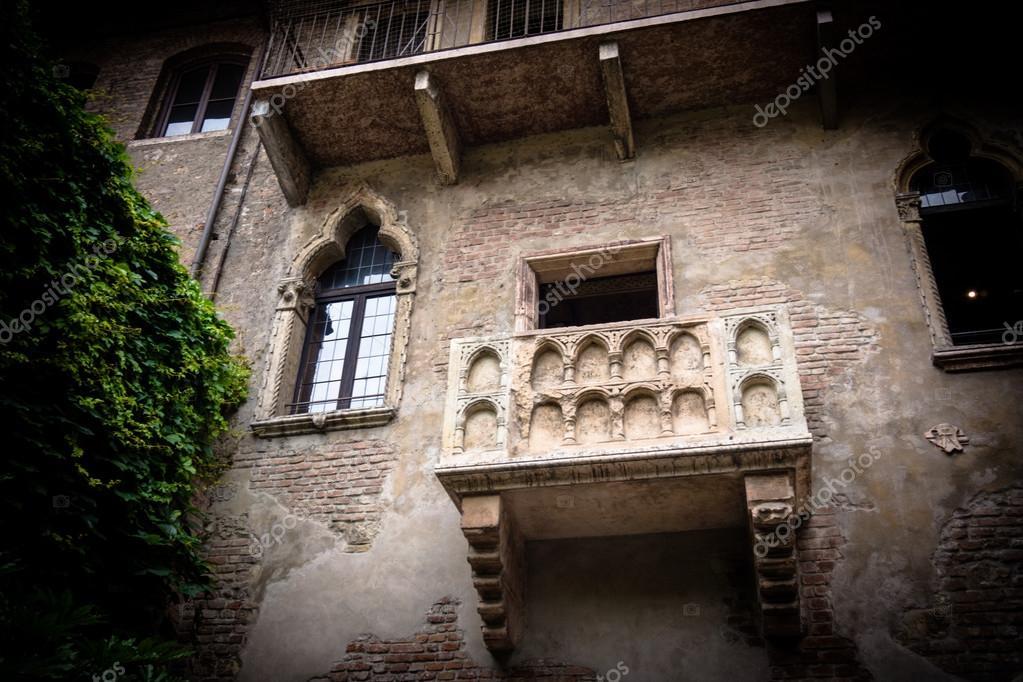 Balkon Von Romeo Und Julia In Verona Italien Stockfoto