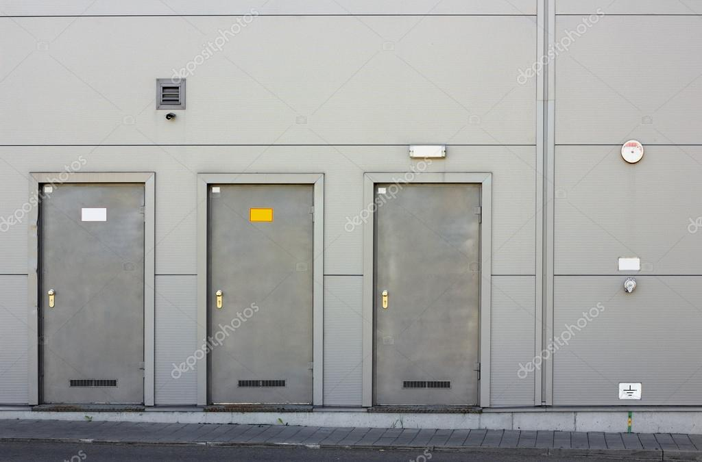 Three armor doors