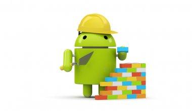 Green robot character builder