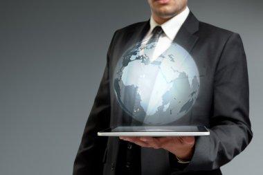 World technology communication concept