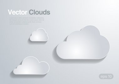 Clouds collection. Cloud computing concept. Vector.