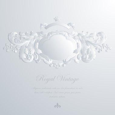 Vintage elegant greeting card & Wedding invitation template. Vector. Editable.