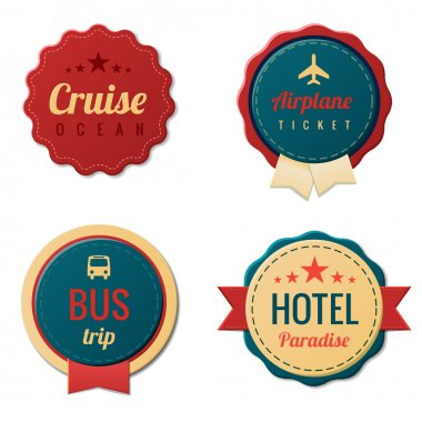 Travel Vintage Labels logo template collection. Tourism Stickers. Vector. Editable.