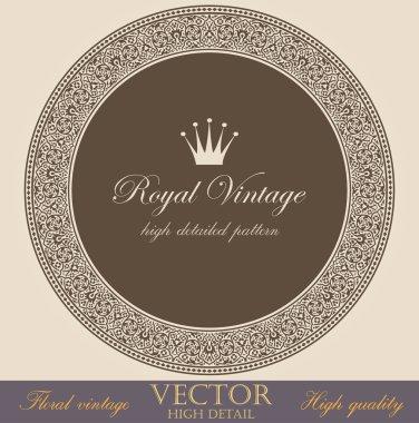 Vintage circle Border design elements collection. Vector Floral ornament. Super High Detailed. Luxury decor. clip art vector