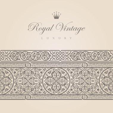Vintage Floral border design elements collection. Vector Floral ornament. Super High Detailed.