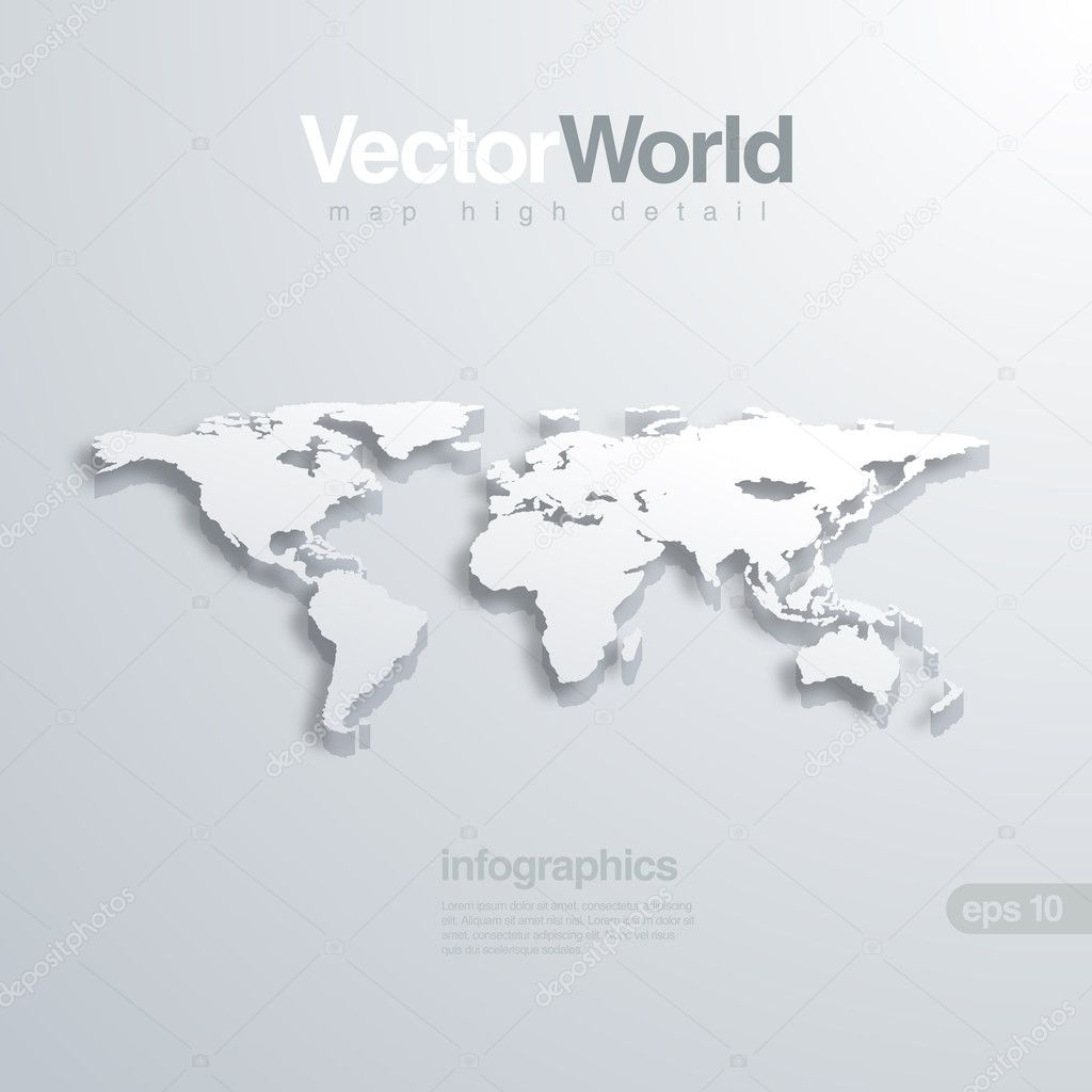 World map 3d vector illustration useful for infographics global world map 3d vector illustration useful for infographics global concept stock vector gumiabroncs Image collections