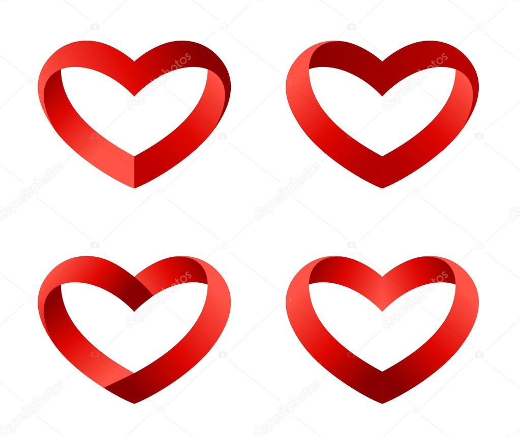 Herz Symbole festgelegt. unendlicher Liebe geloopt ...