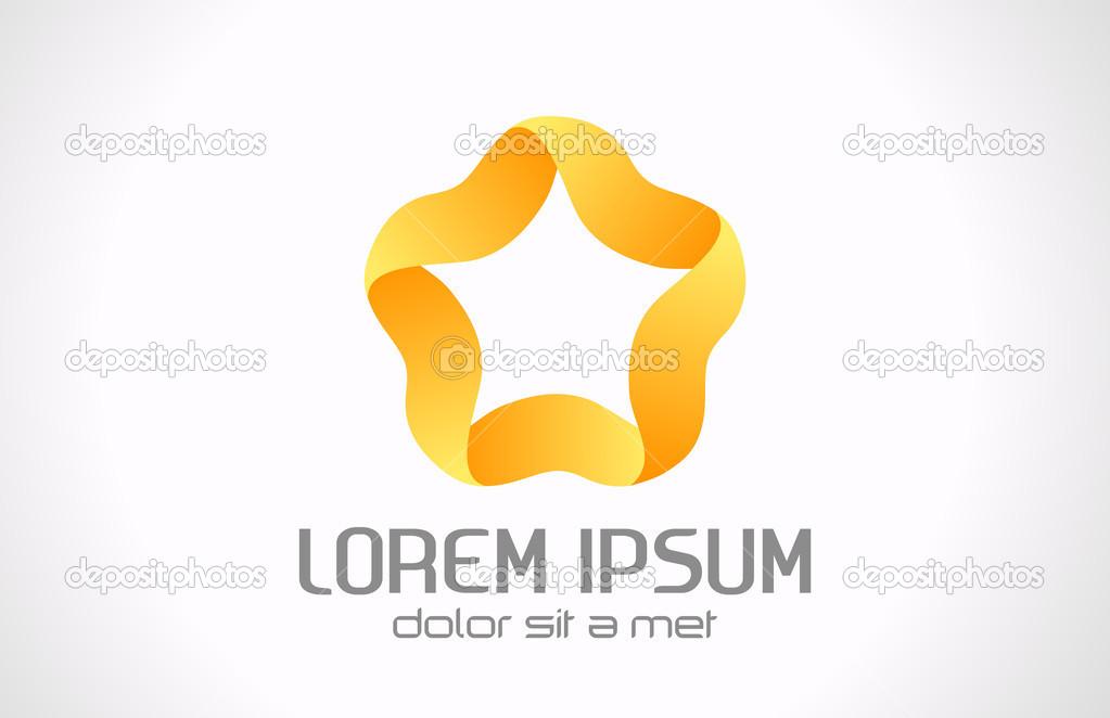 Abstact Stern Logo Vorlage. unendliche Form. fünf-Punkt-Band Sterne ...