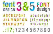 Fotografie Font design. Ribbon Alphabet. vector. Usage: for logo, title, identity etc.