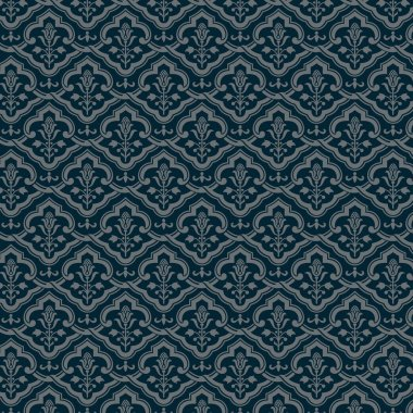 Vintage floral background. Floral seamless pattern. Old style vector Wallpaper.