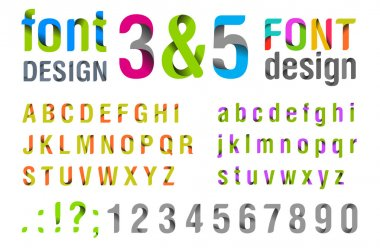 Font design. Ribbon Alphabet. vector. Usage: for logo, title, identity etc.