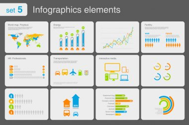 Infographics elements with icons.Multiuse! For business and finance reports, statistics, diagram graph stock vector
