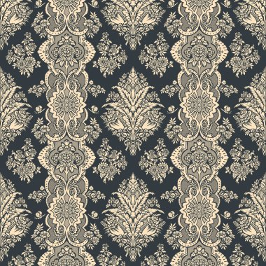 Vintage background. Floral pattern. Ornament Wallpaper.