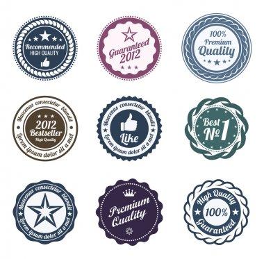 RETRO Design. Premium Vintage Labels. Trendy design