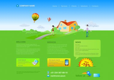 Website template: Healthlife, Countryside, Realty etc. Resizeble Web design - can be adopted for any monitor resolution.