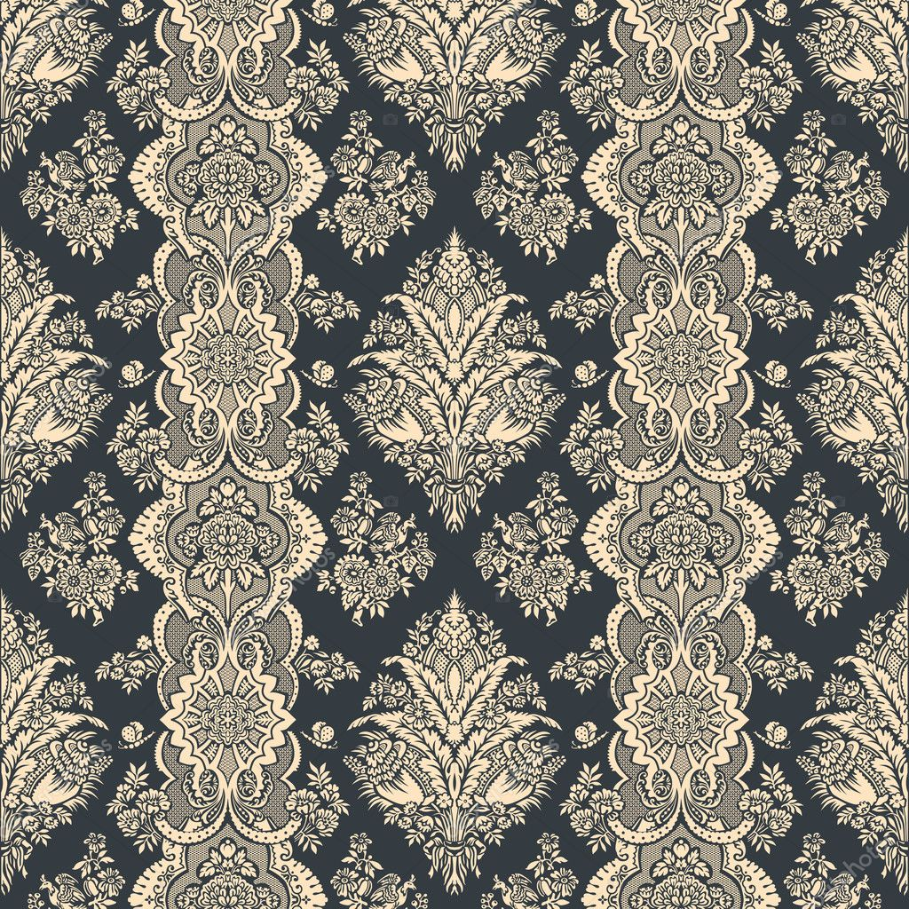 vintage hintergrund florales muster ornament tapete. Black Bedroom Furniture Sets. Home Design Ideas