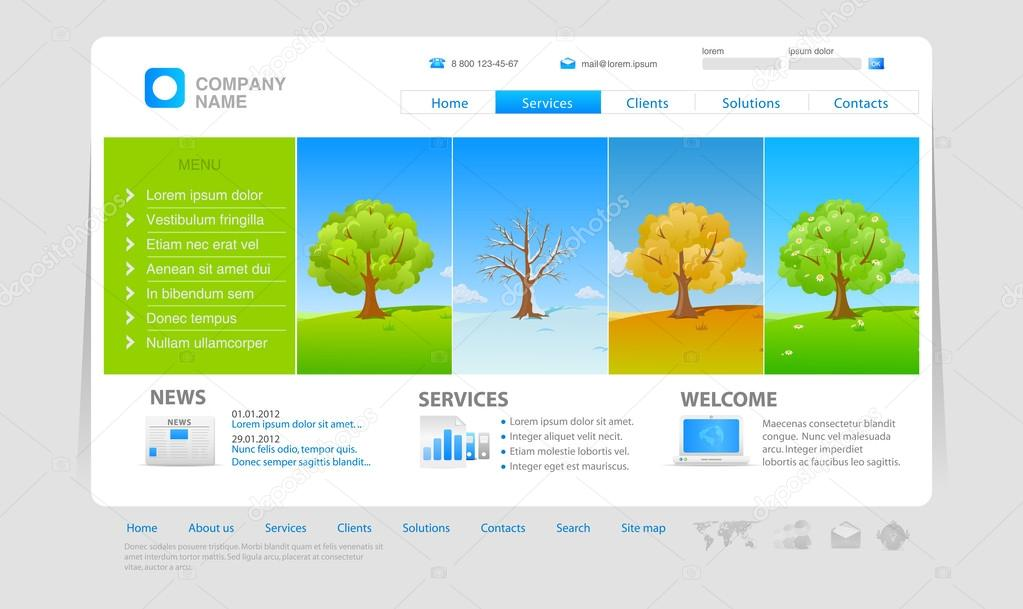 Website template: four seasons