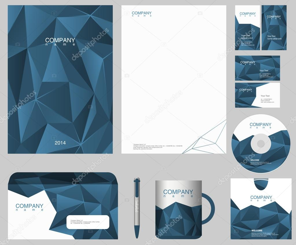 Corporate IDENTITY design template. Just put your logo. — Stock ...
