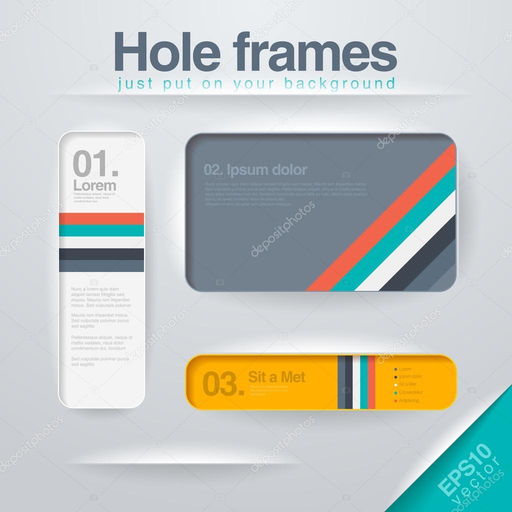 Vector design Frames template. Use for infographics, web, design ...