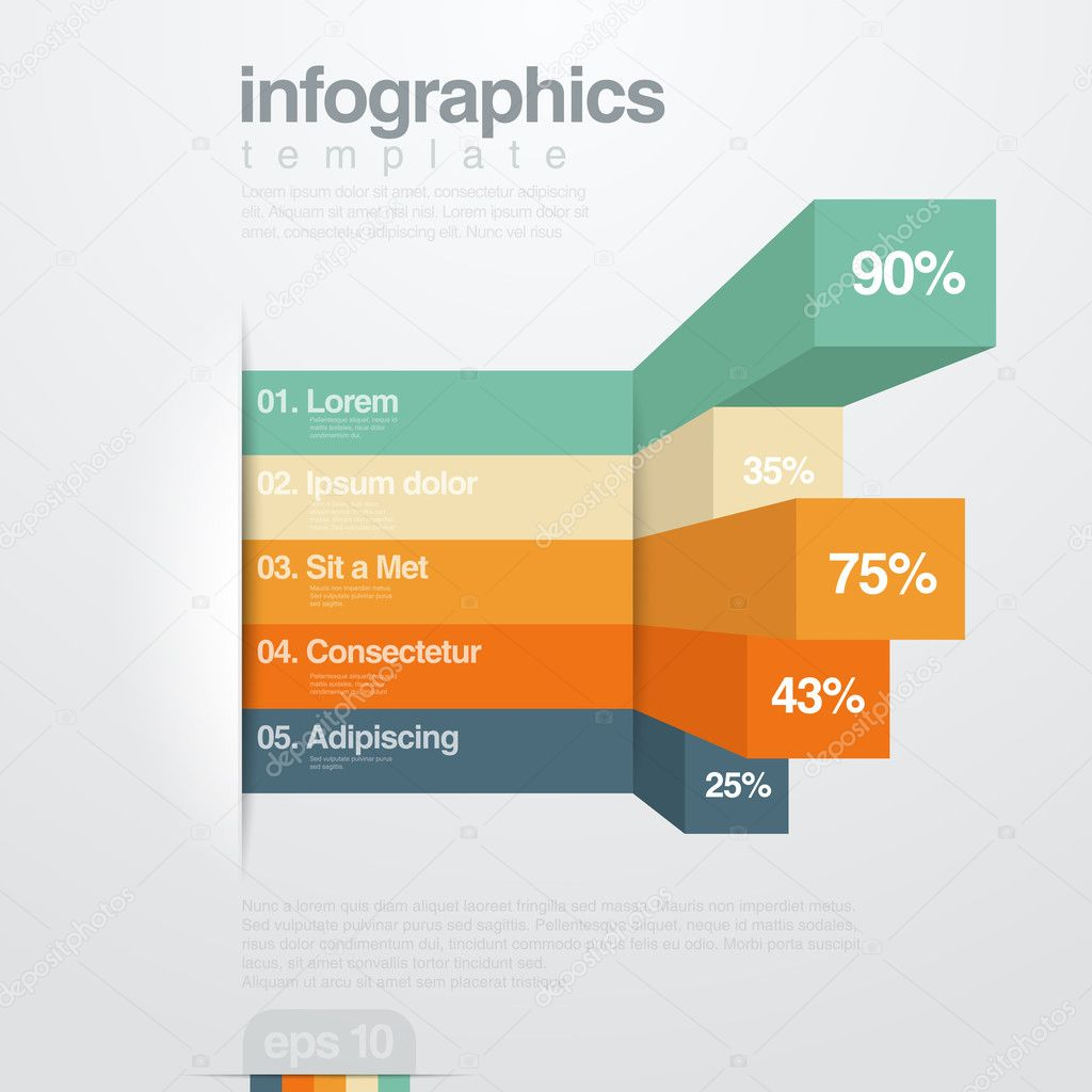 Infographics vector design template. Creative diagram.