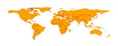 3d embossed countries borders worldmap