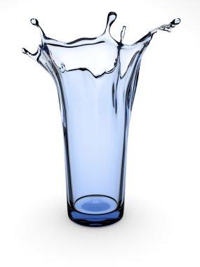 Splashing glass