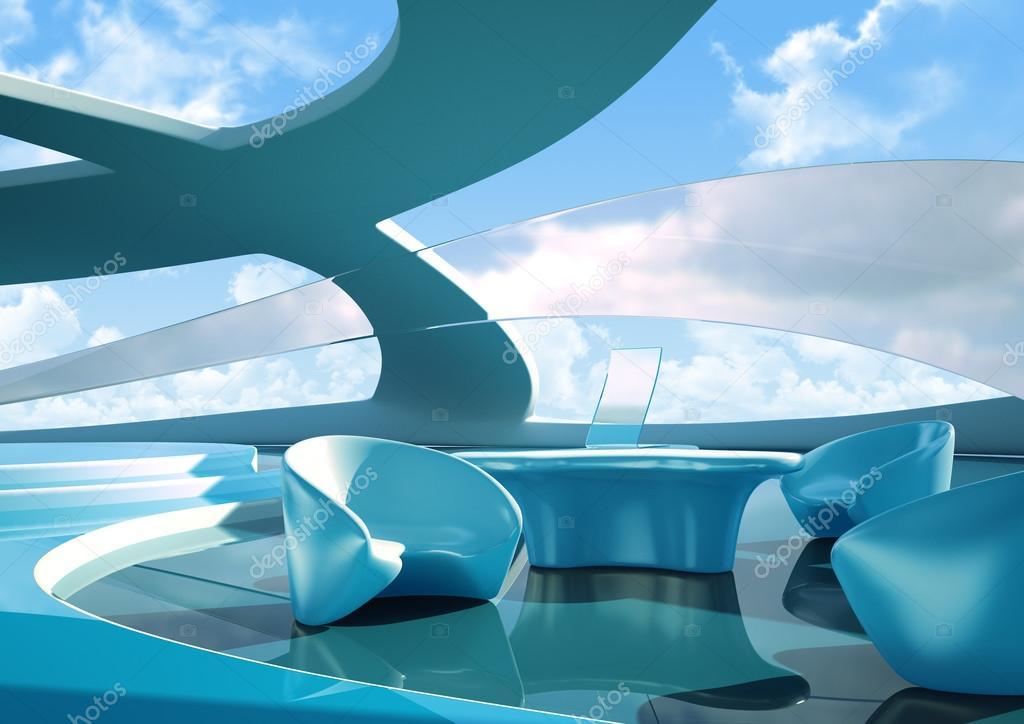 Future Interior Design Concept Idea Stock Photo
