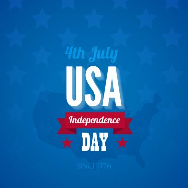 USA Independence day poster vector design template. 4th of July