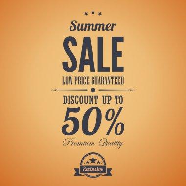 Summer sale poster advertisement.
