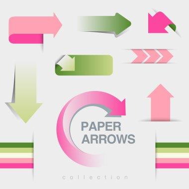 Arrows icons vector collection.
