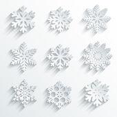hópelyhek alakú vektor ikon készlet