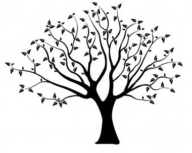 Tree illustration isolated on white clip art vector