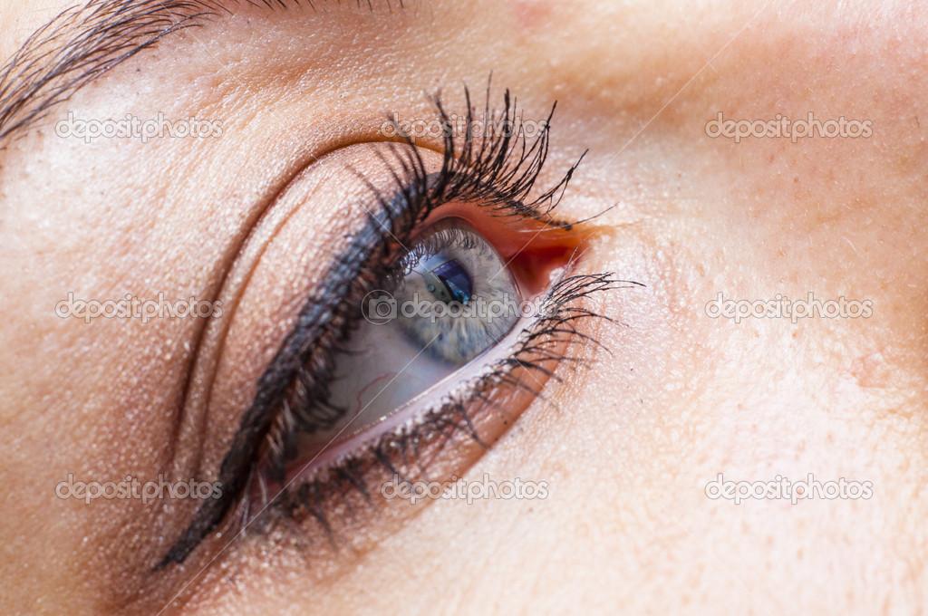 Female eye close up