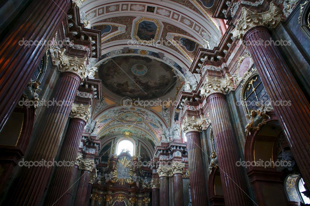 int rieur de la coll giale baroque poznan photographie gkordus 17394147. Black Bedroom Furniture Sets. Home Design Ideas
