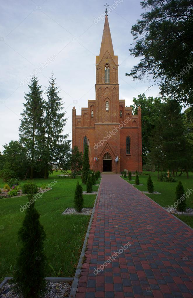 gothic church with tower