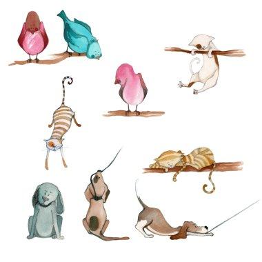 illustrated cute animals