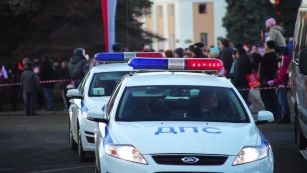 hlídková policejní auta