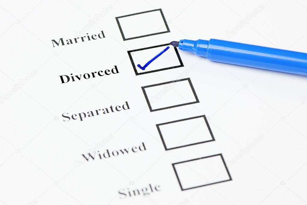Marital Status Check List Divorced Stock Photo C Rogerashford 39624231