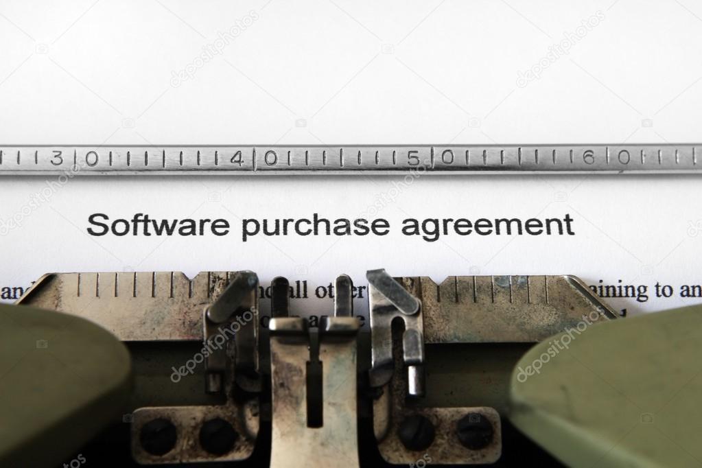 Software Purchase Agreement Stock Photo Alexskopje 13347089