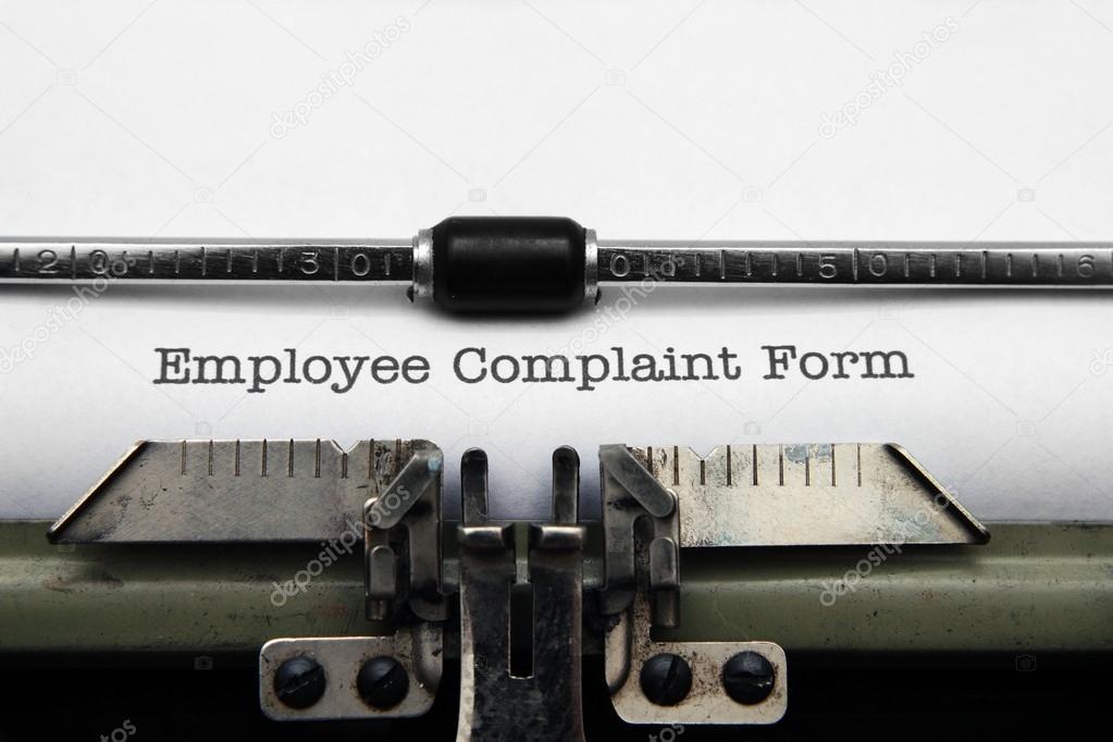 Employee Complaint Form U2014 Stock Photo #22177997