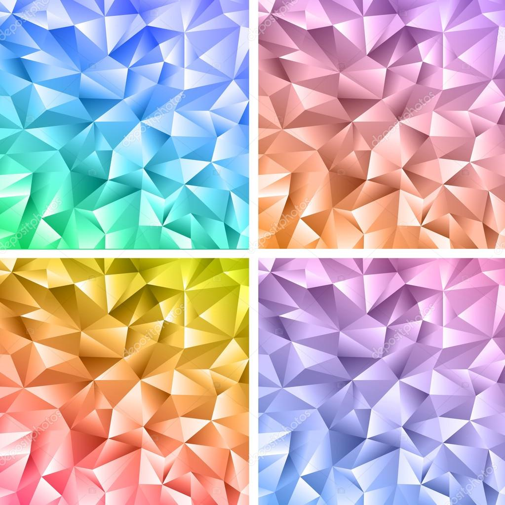 Abstract crystal colorful backgrounds