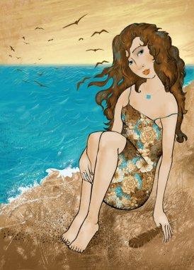 Girl near the sea