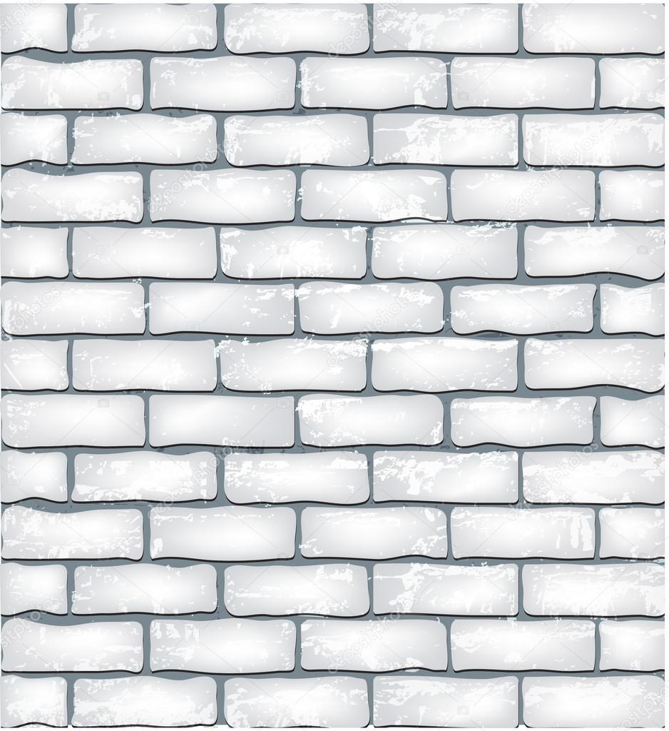 White brick wall seamless pattern stock vector 30723187 - Brick wall patterns designs ...